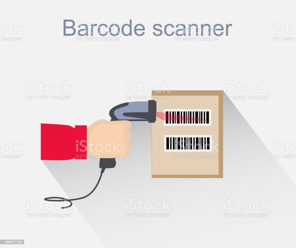 Barcode Scanner Icon Design Style vector art illustration