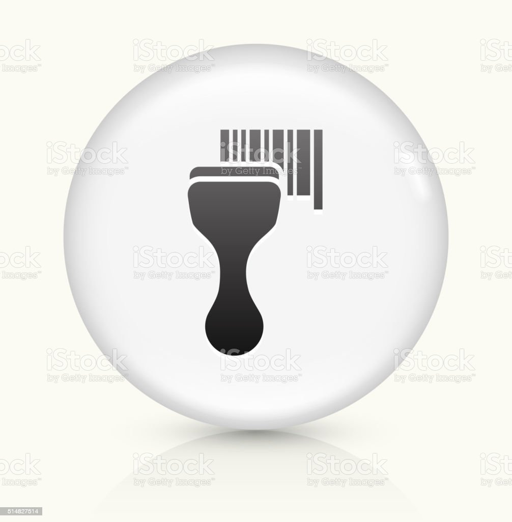 Barcode Scanner icon on white round vector button vector art illustration