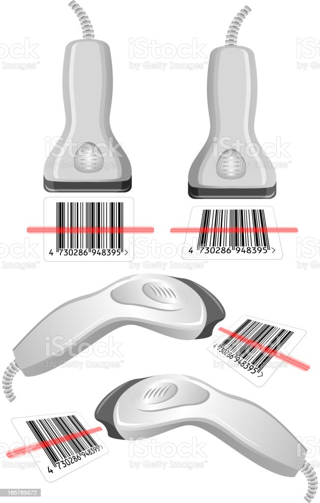 Bar-code scanner royalty-free stock vector art