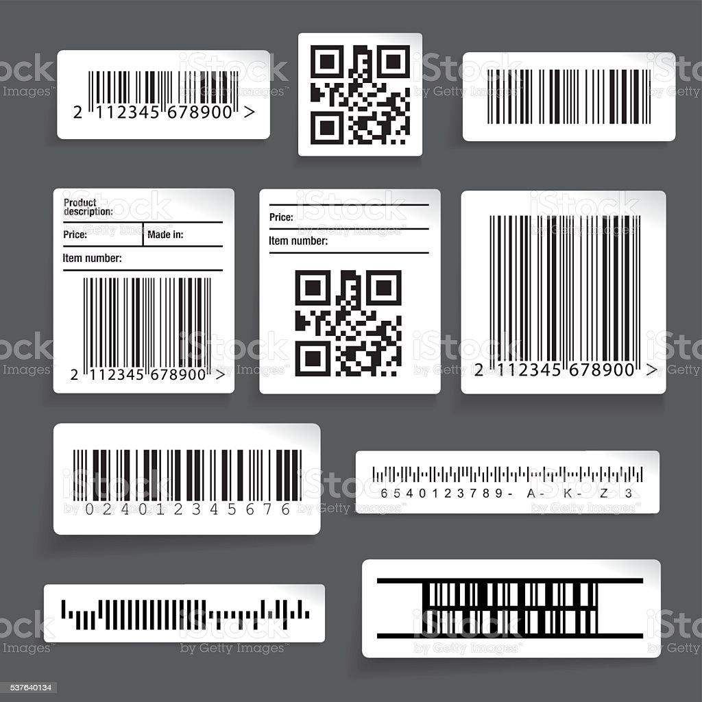 Barcode sticker set vector vector art illustration