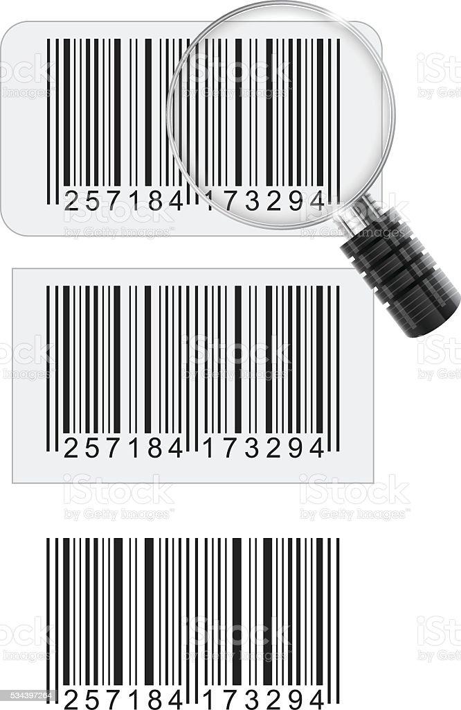 Barcode stickers vector art illustration