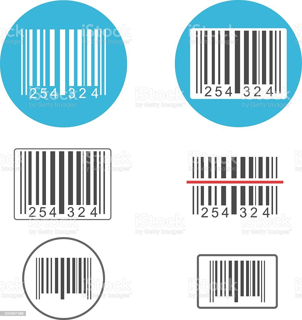 Barcode vector art illustration