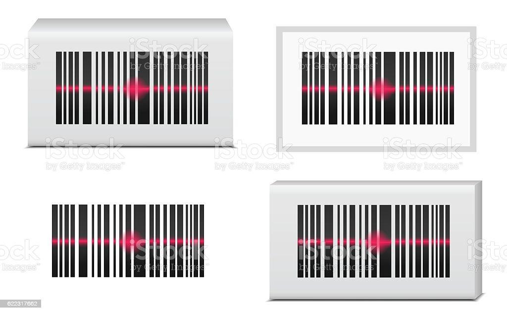 Barcode vector art illustration