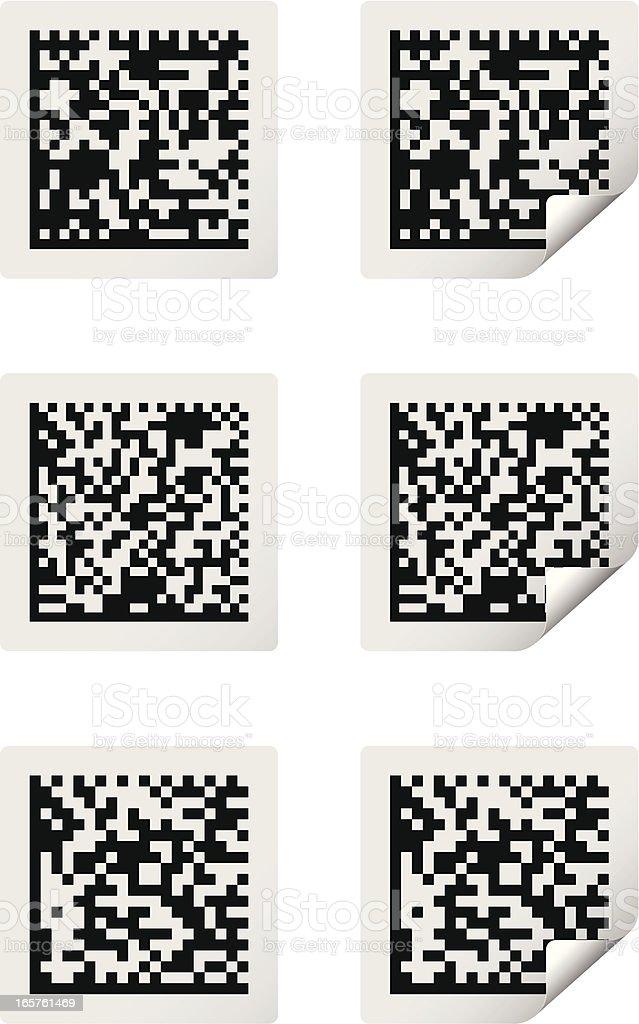 barcodes royalty-free stock vector art