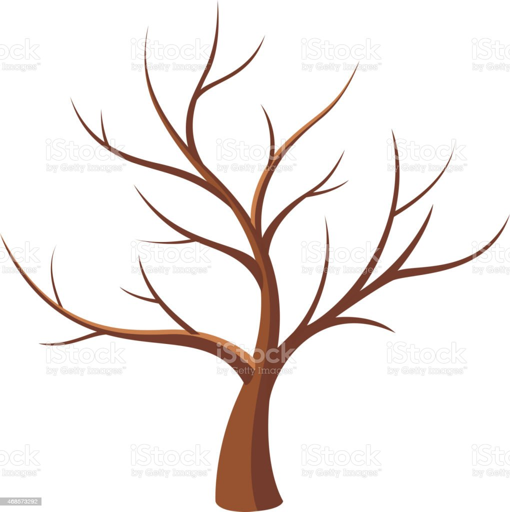 Bare tree vector art illustration