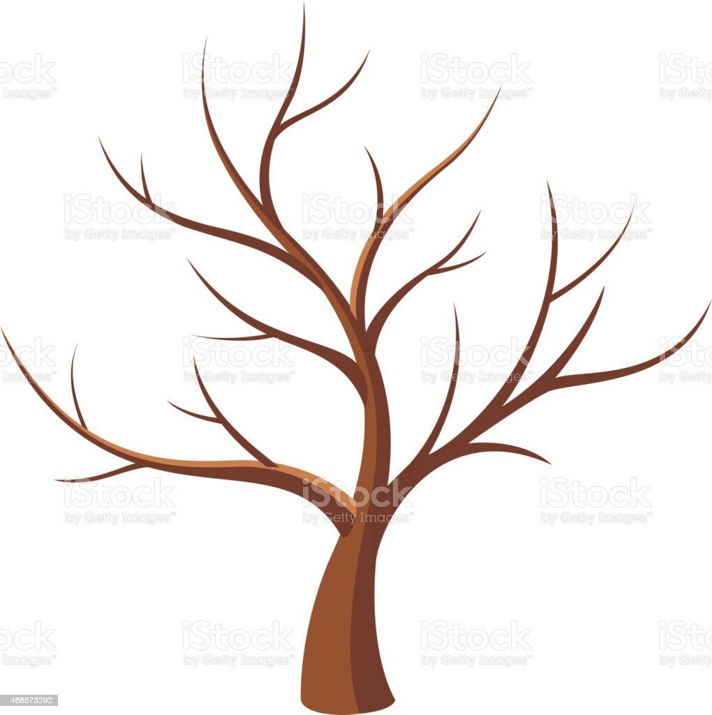 Bare tree vector art illustration