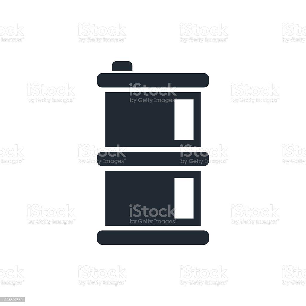 barel icon vector art illustration