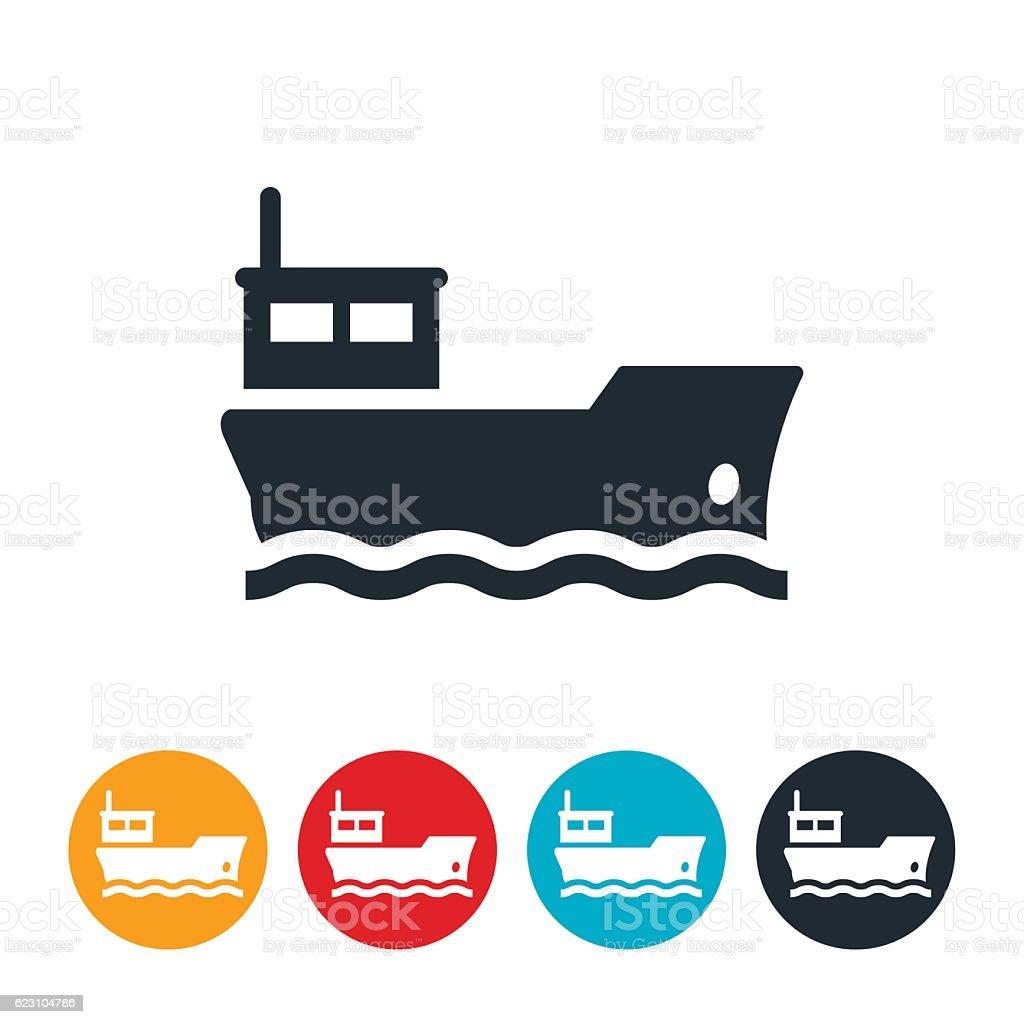 Barge Icon vector art illustration