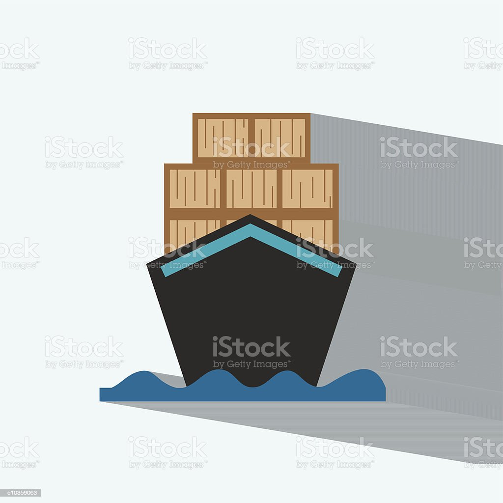barges flat icon  vector illustration eps10 vector art illustration