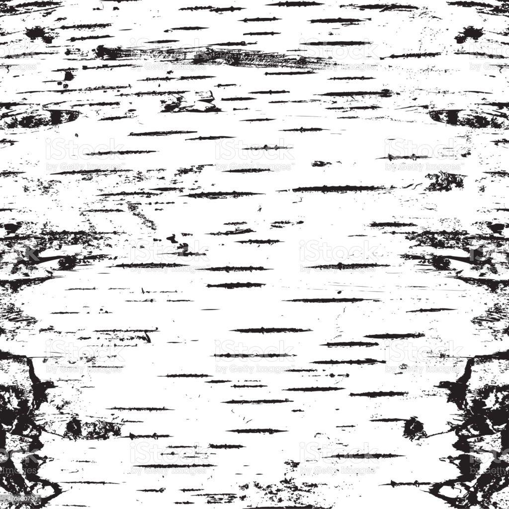 bark of birch in the cracks texture vector art illustration