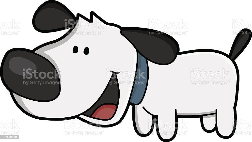 barking dog / cartoon vector art illustration
