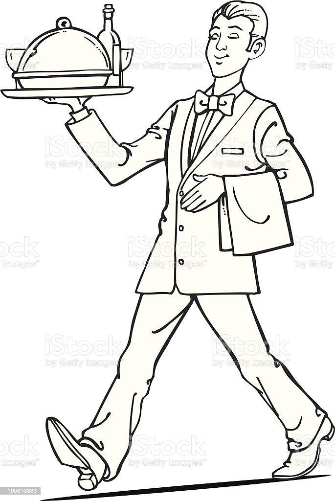 Barmen vector art illustration
