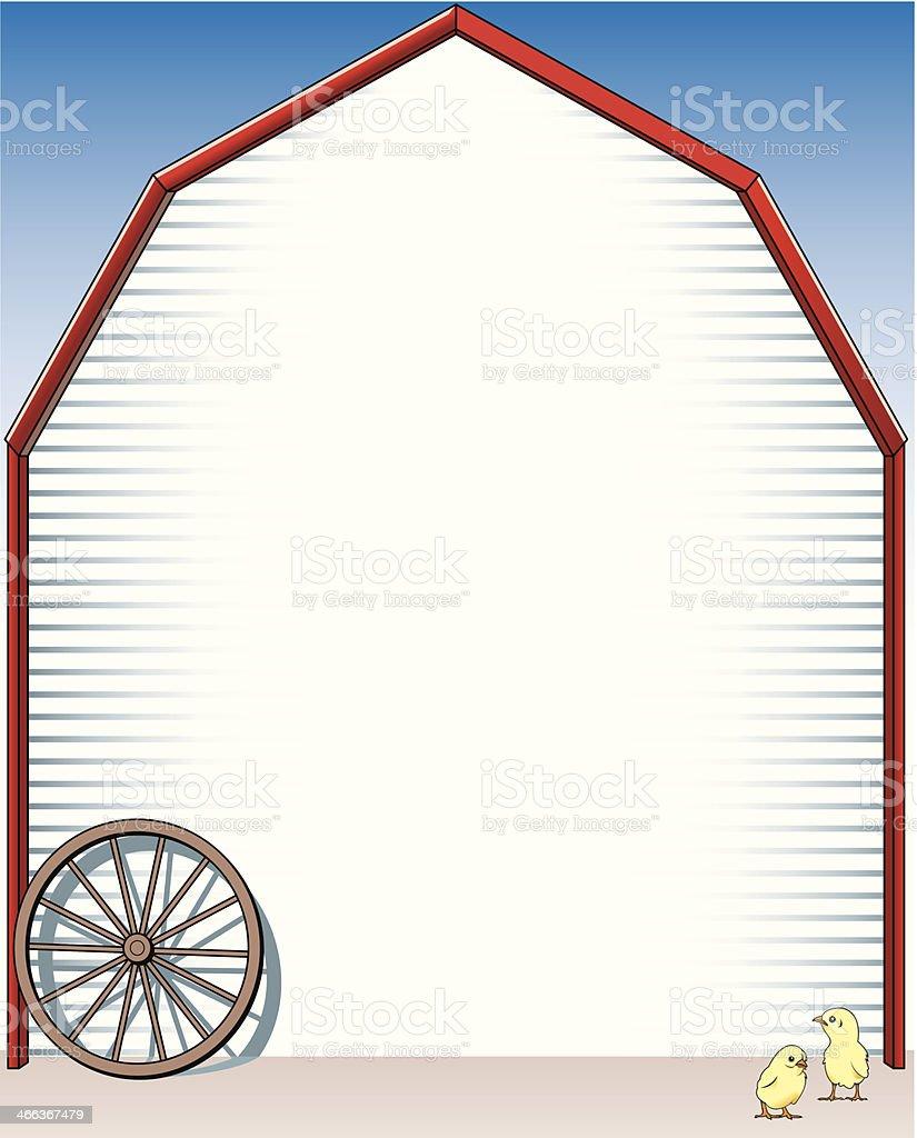Barn Mortice C vector art illustration