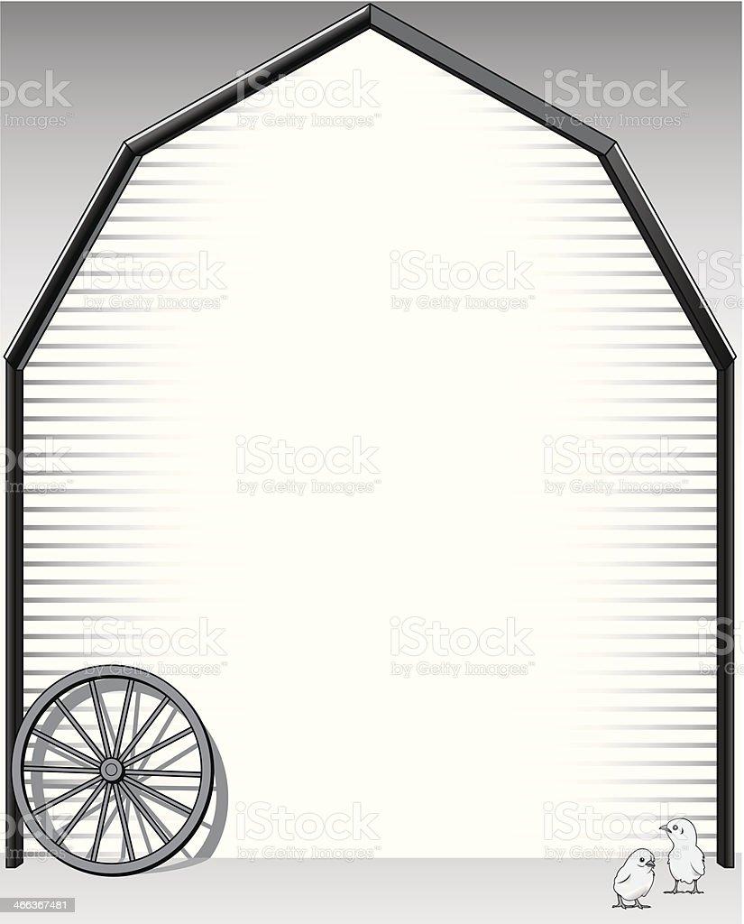 Barn Mortice vector art illustration