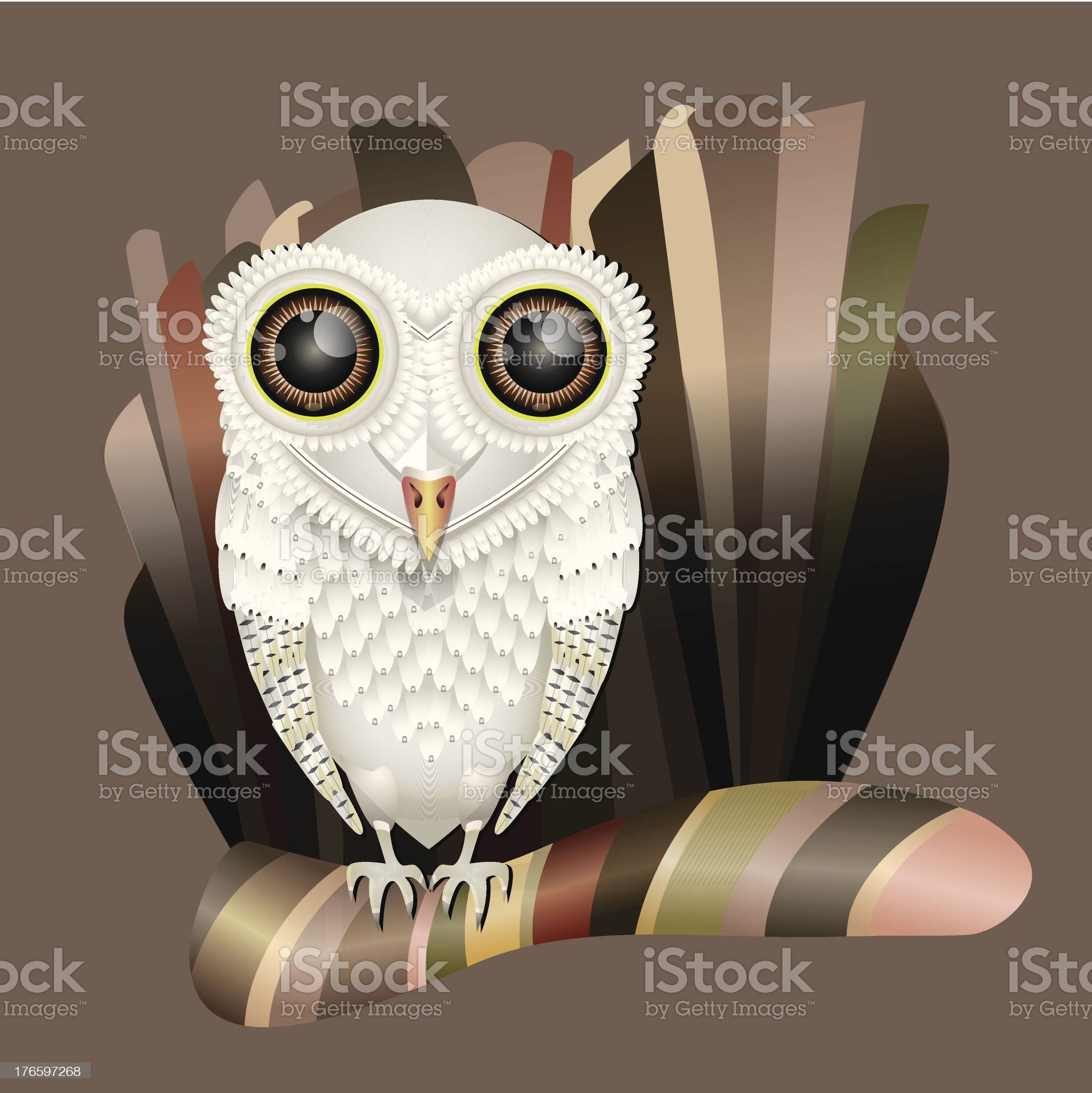 Barn owl royalty-free stock vector art