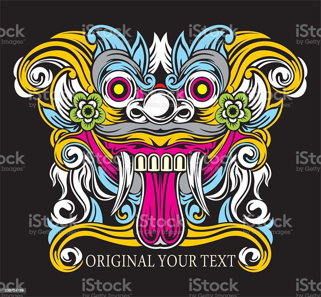 Barong Bali colors vector art illustration