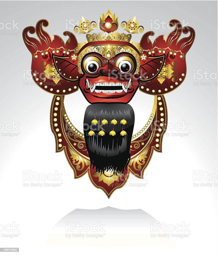 Barong Bali royalty-free stock vector art
