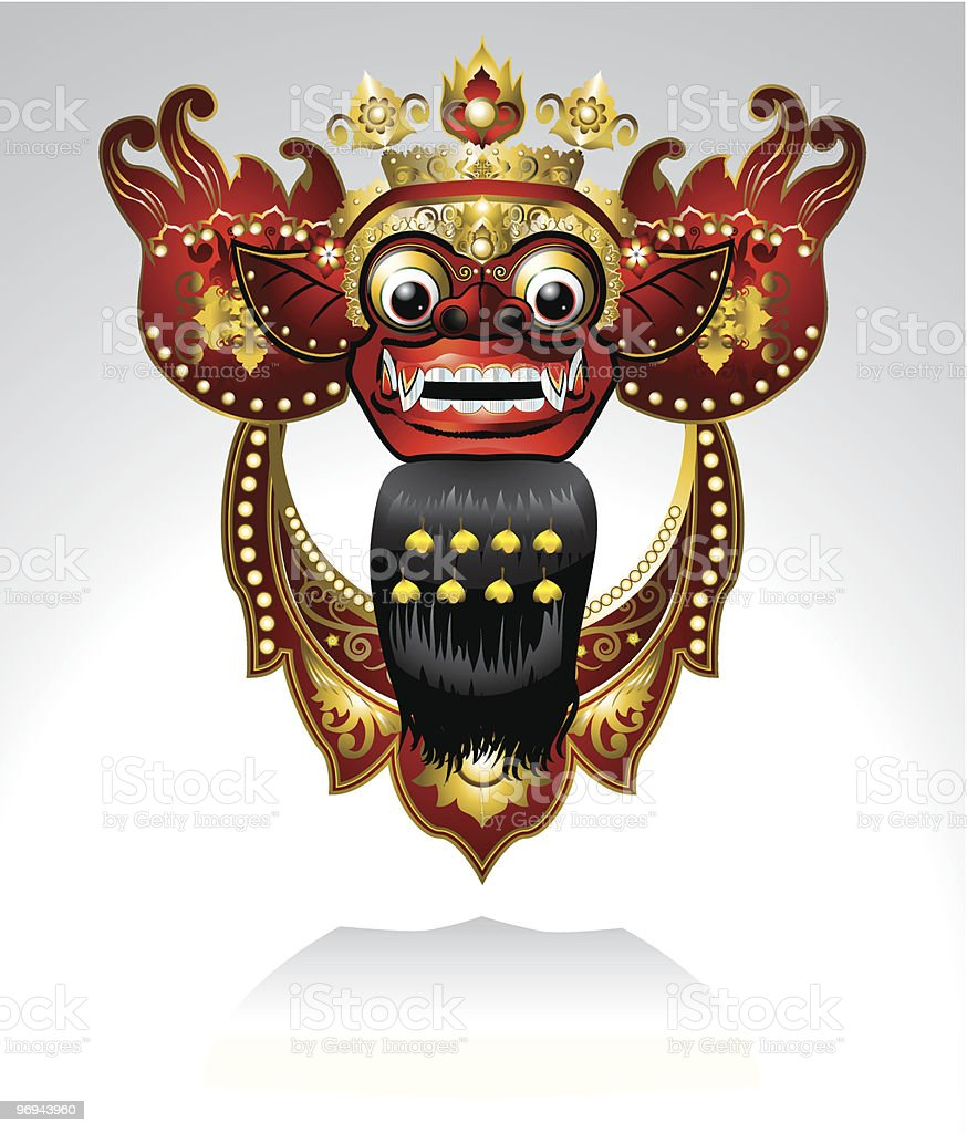 Barong Bali vector art illustration