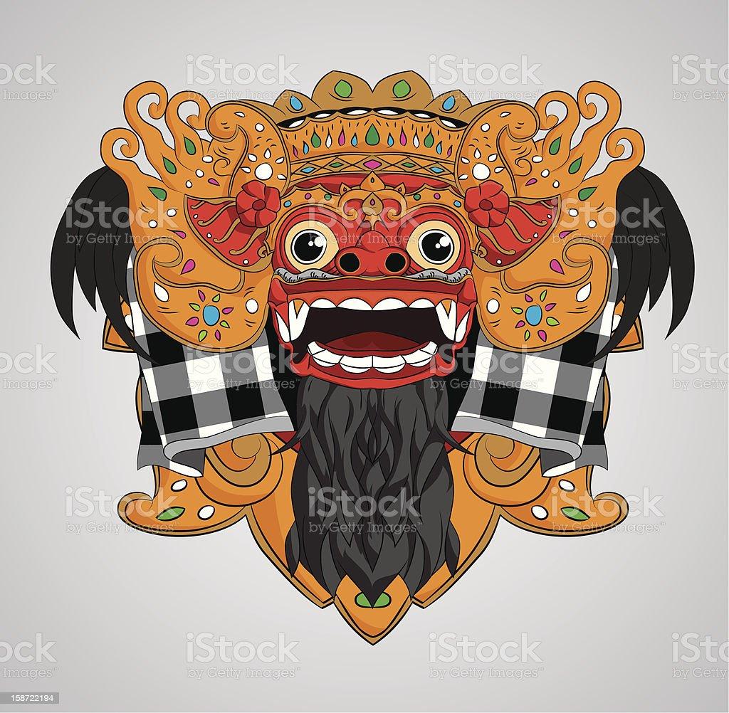 Barong Mask vector art illustration