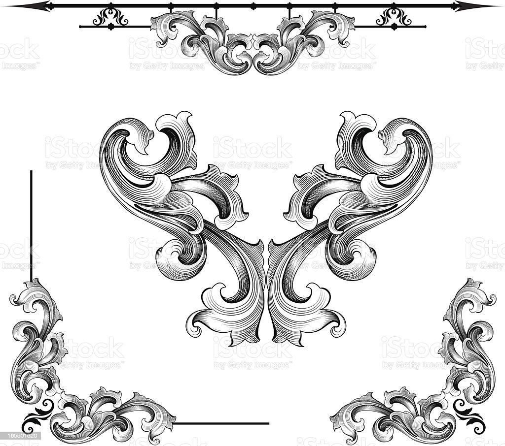 Baroque Assortment vector art illustration