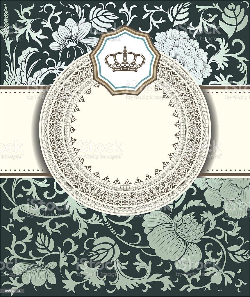 Baroque card royalty-free stock vector art