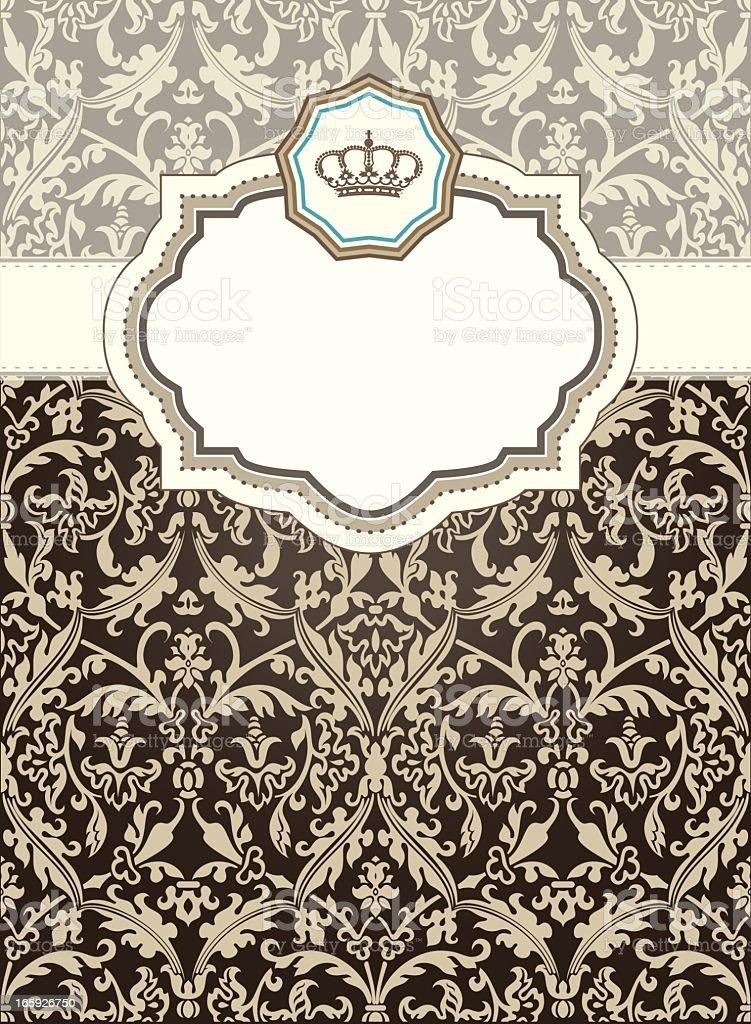 Baroque card vector art illustration