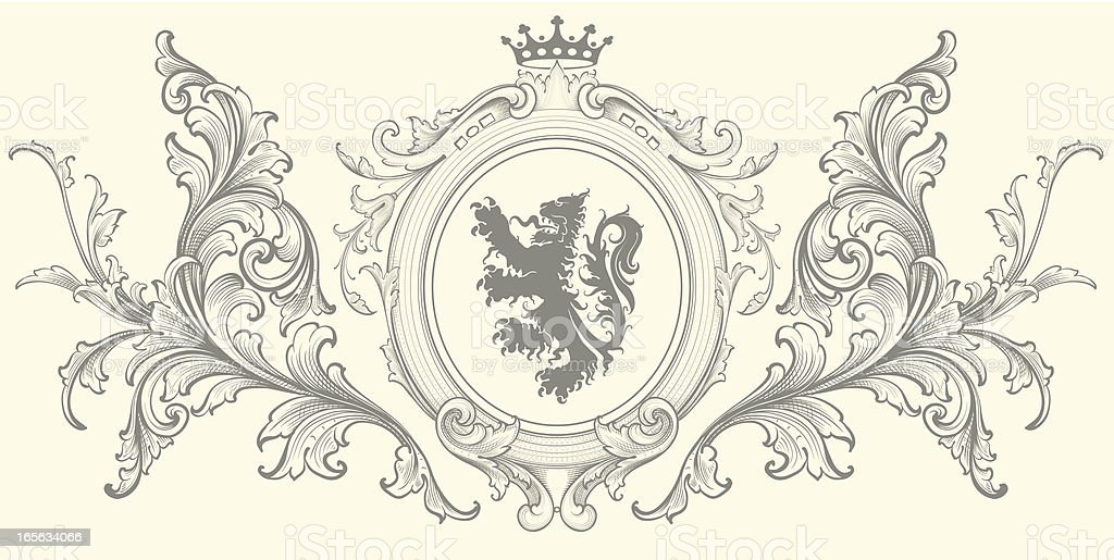Baroque Coat of Arms royalty-free stock vector art