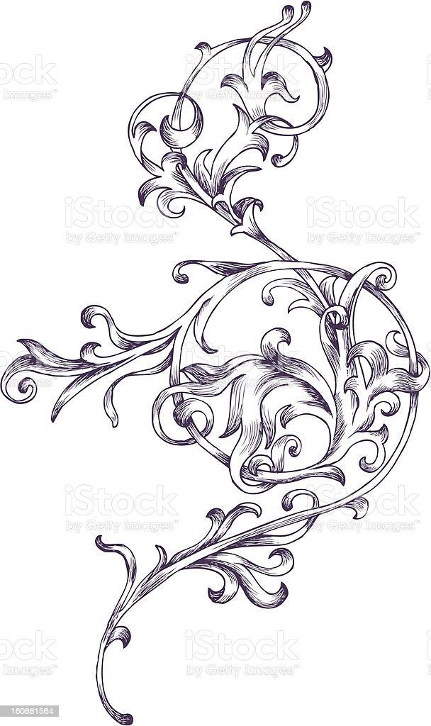 Baroque design element vector art illustration