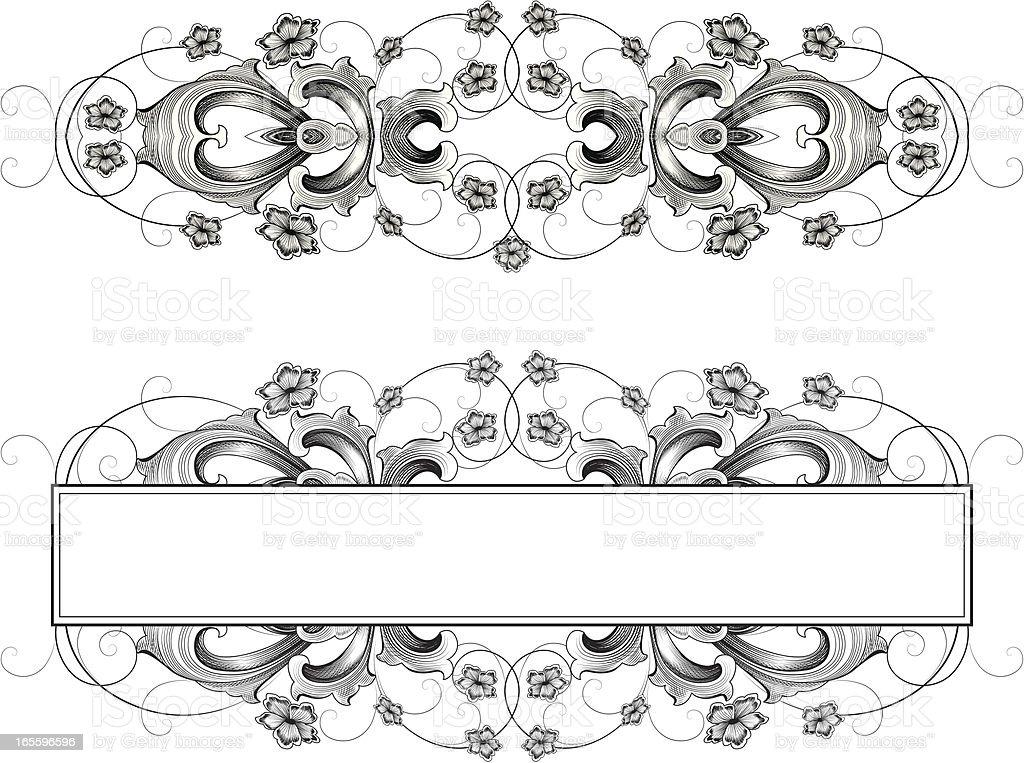 Baroque Designs vector art illustration