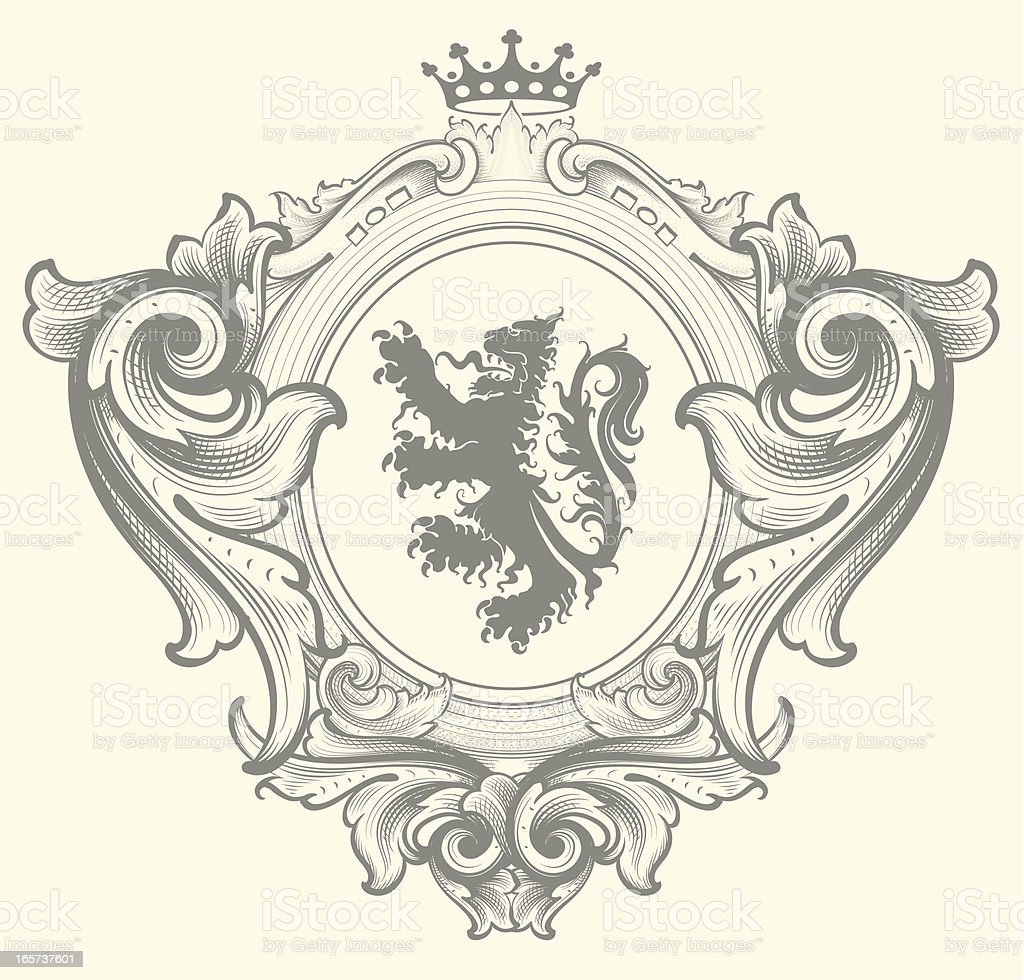 Baroque Family Crest royalty-free stock vector art