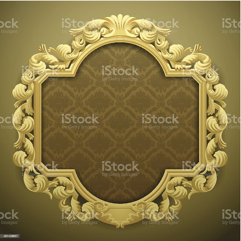 Baroque frame vector art illustration