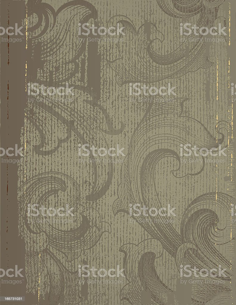 Baroque Grunge Background vector art illustration
