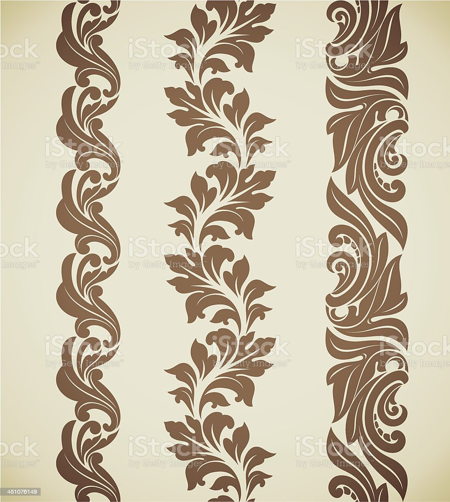 Baroque patterns royalty-free stock vector art