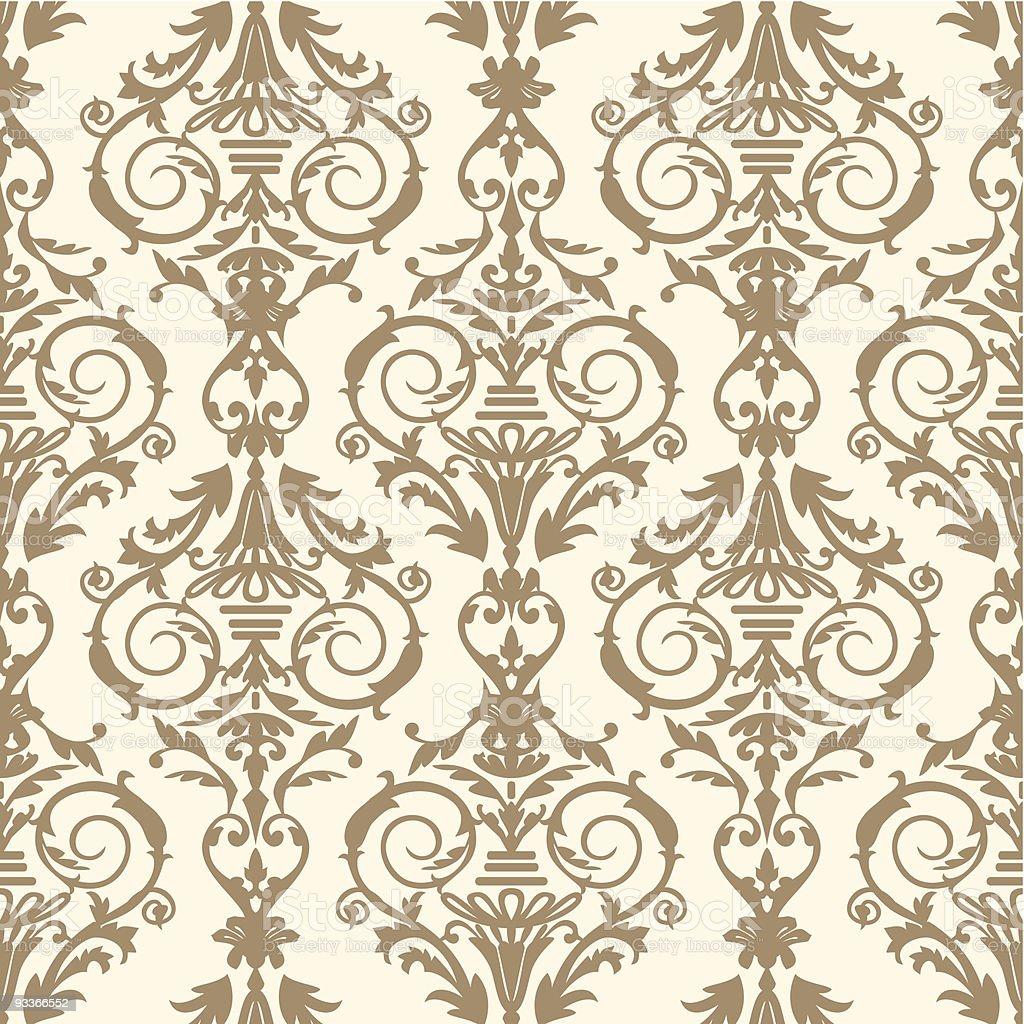 Baroque tile, vector illustration royalty-free stock vector art