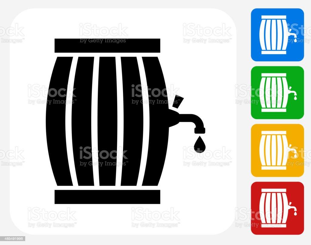 Barrel Icon Flat Graphic Design vector art illustration