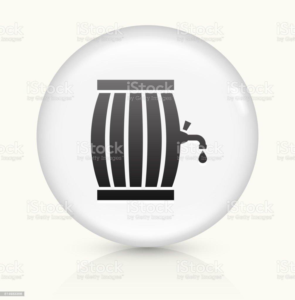 Barrel icon on white round vector button vector art illustration
