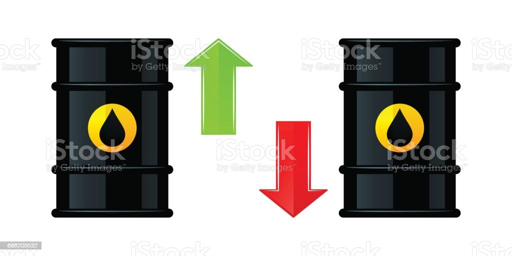 Barrel of oil icons vector art illustration