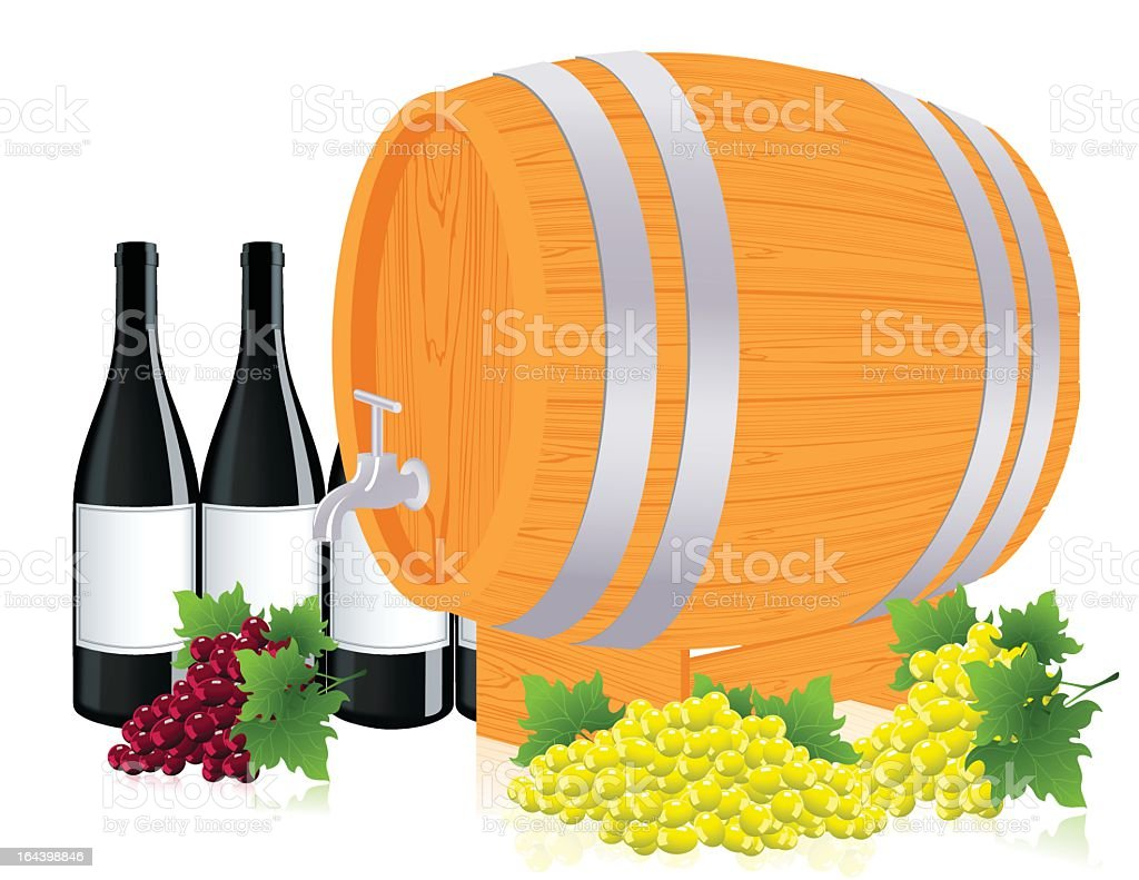 Barrel with wine royalty-free stock vector art