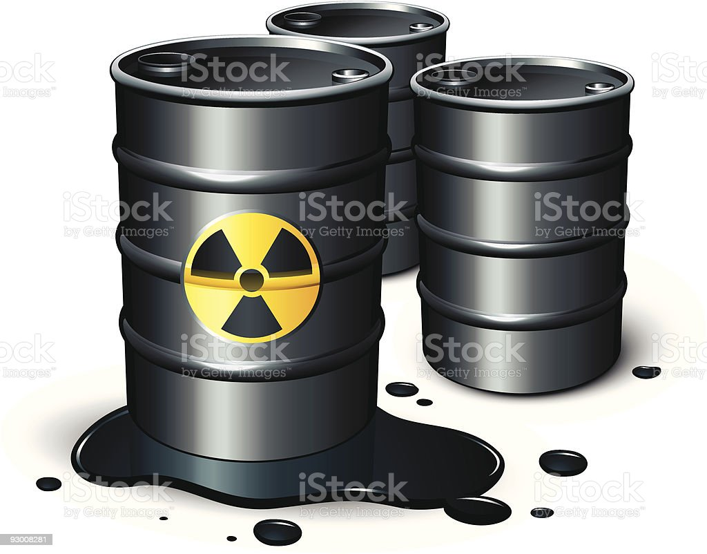 Barrels of petrol royalty-free stock vector art