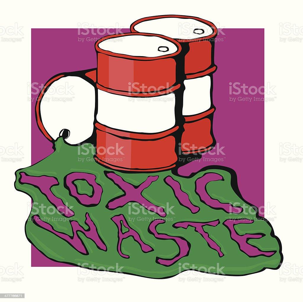 barrels of toxic waste royalty-free stock vector art