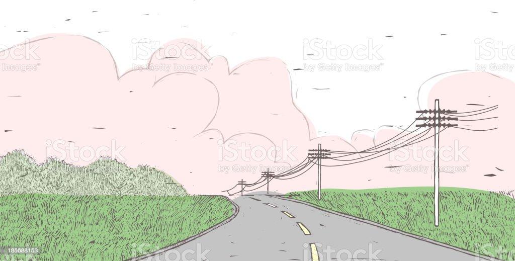 Barren Highway royalty-free stock vector art