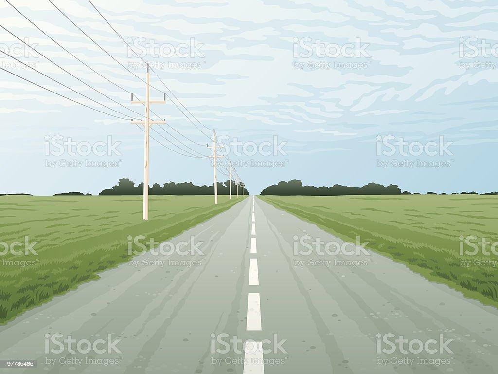 Barren Highway vector art illustration
