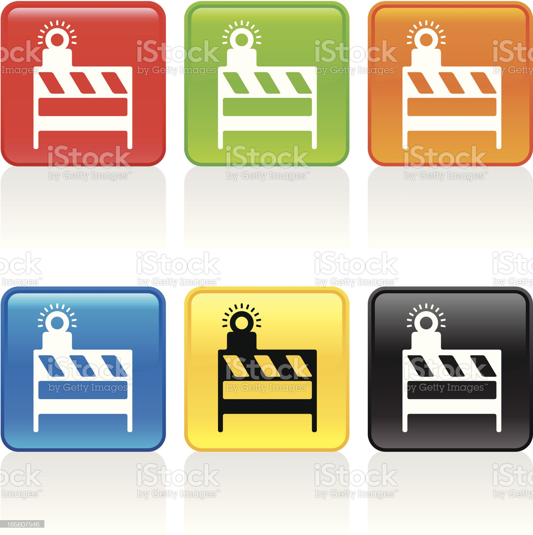 Barricade Icon royalty-free stock vector art