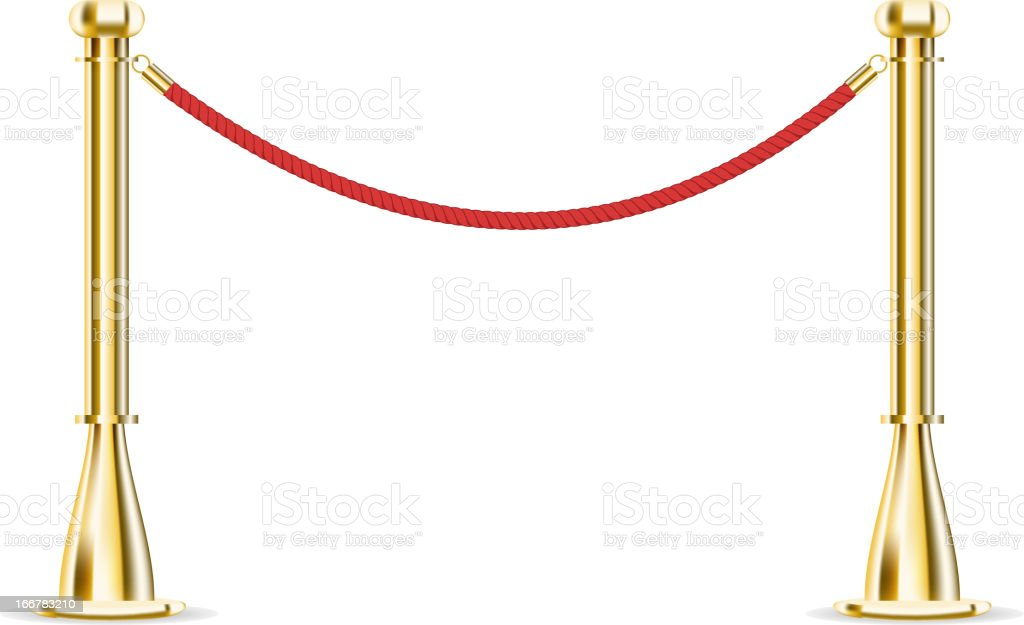 Barrier rope isolated on white royalty-free stock vector art