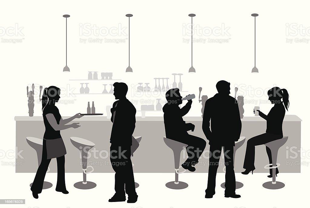 Barsy Vector Silhouette vector art illustration