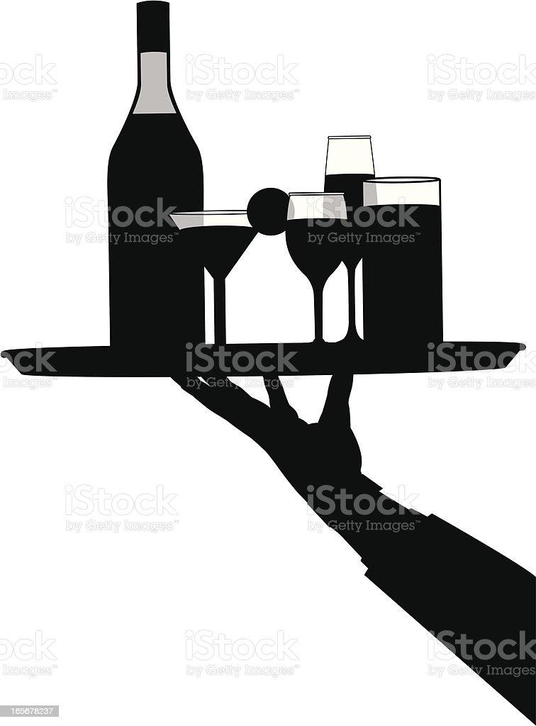 bartender vector art illustration