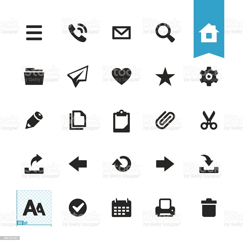 Base users actions vector icons vector art illustration