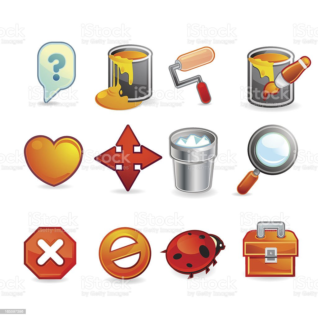 Base Web Design Icons royalty-free stock vector art