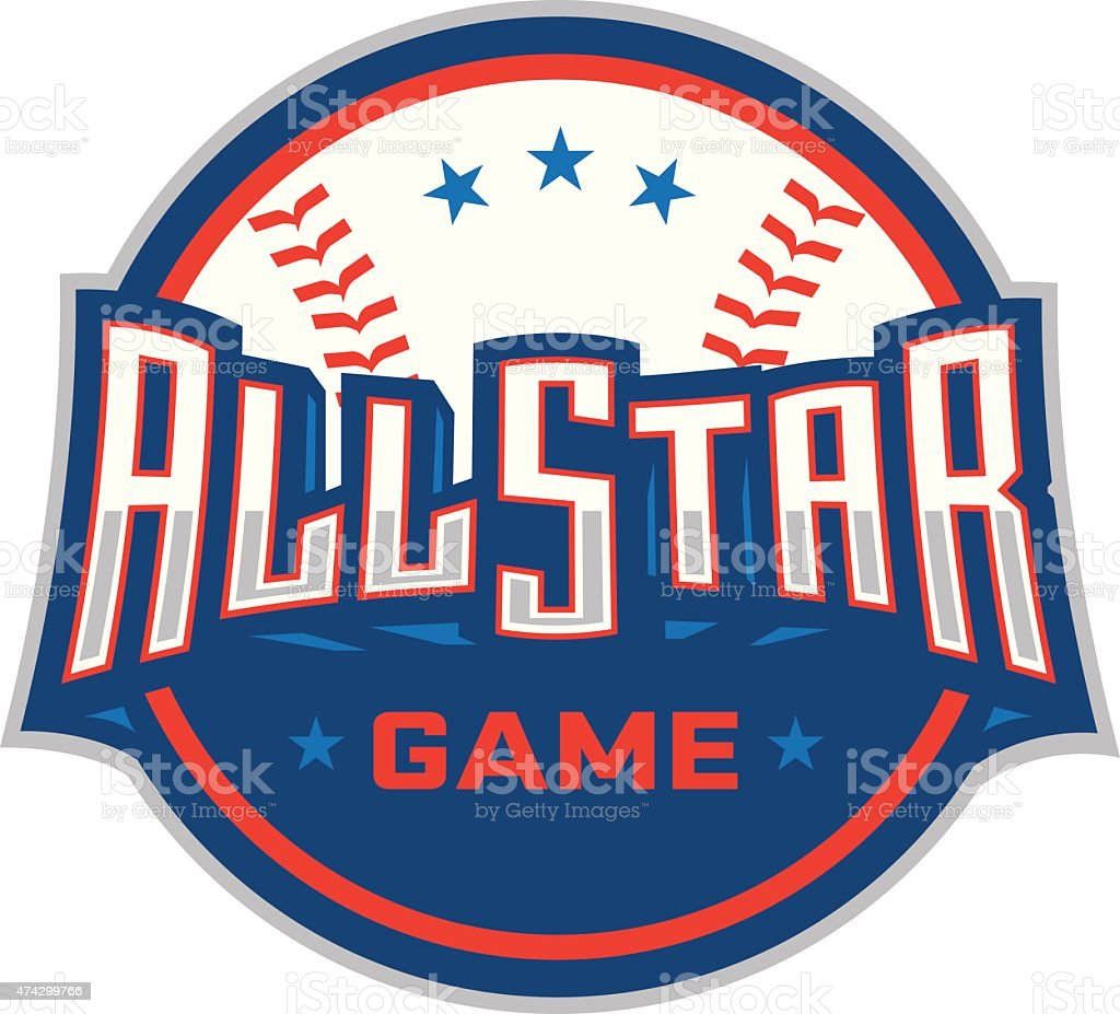 Baseball All-Star Game Icon vector art illustration