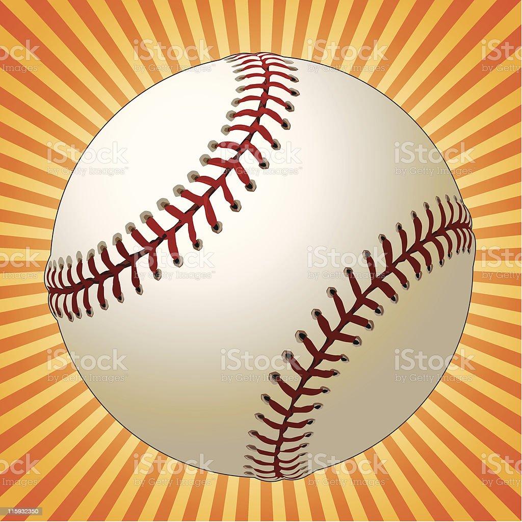 Baseball and Sunburst royalty-free stock vector art